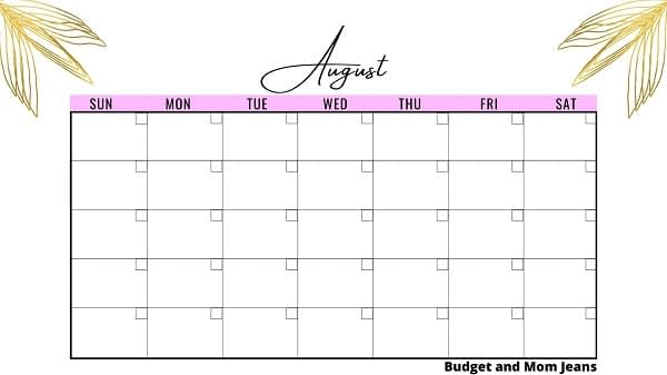 FREE Printable Monthly Planner - For The Year 2021, 2022